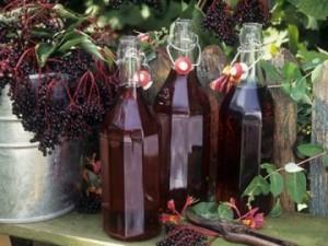 Готовое вино из черемухи