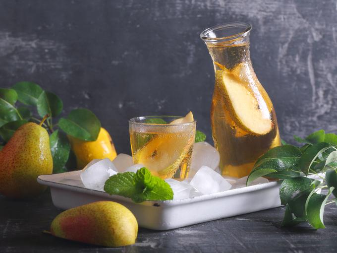 грушевый напиток с мятой