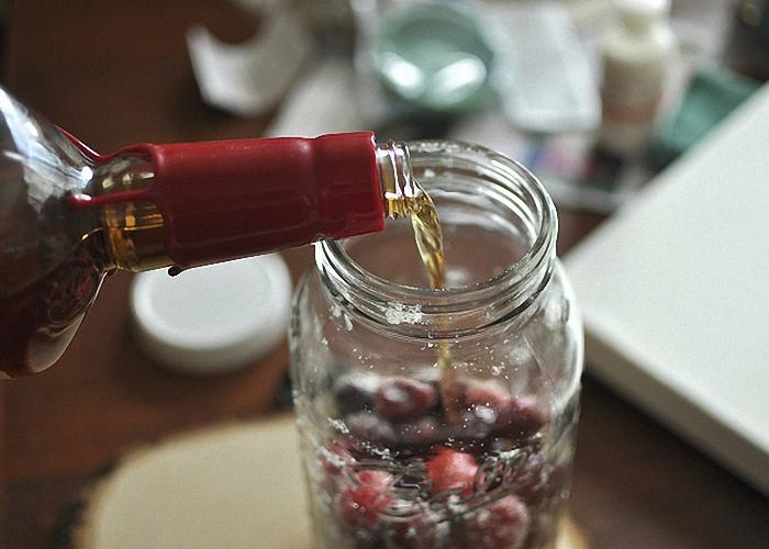 вишневая наливка на коньяке