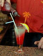 коктейль с абсентом Сладкий контраст